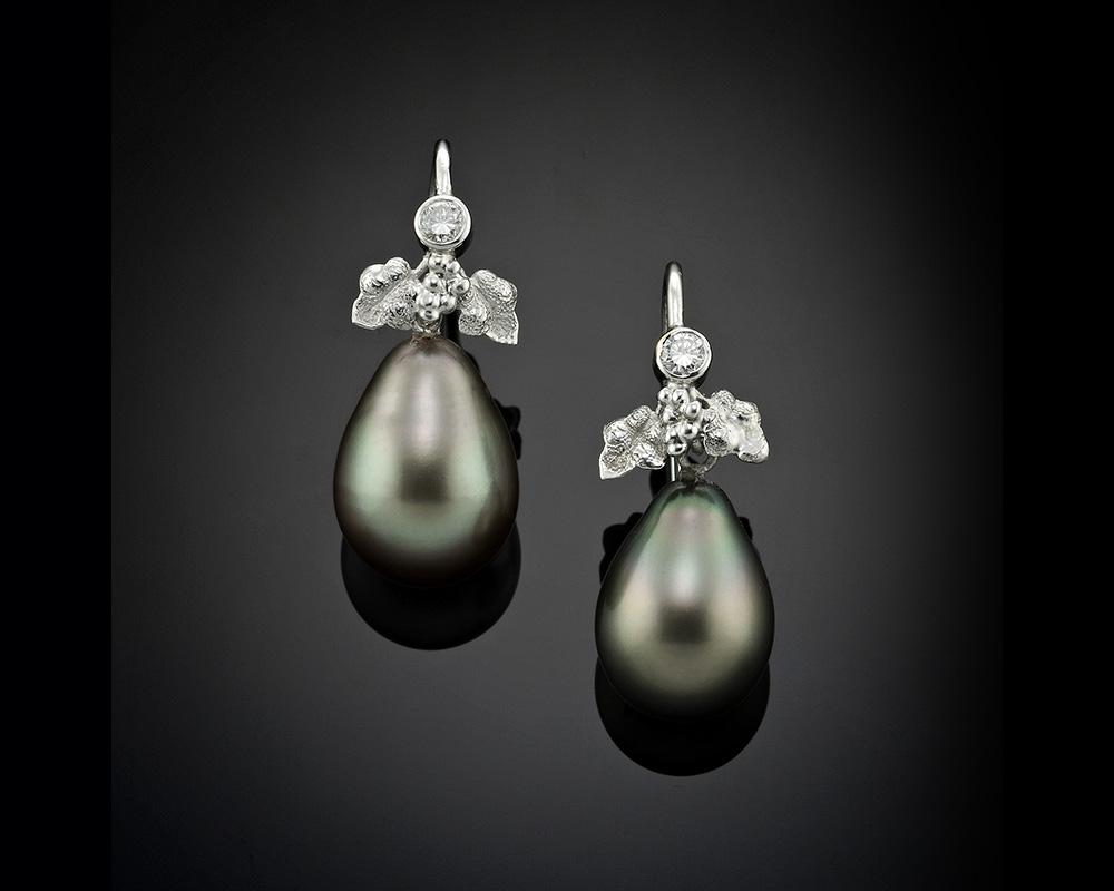 Tahitian Black Pearl Drop
